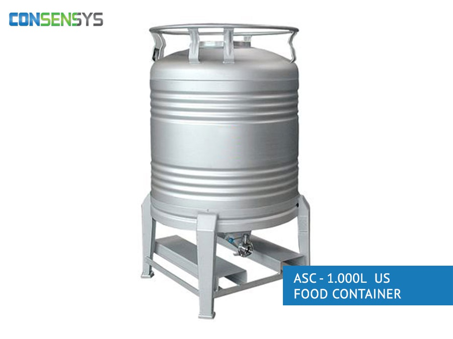 asc - 1000l us food container