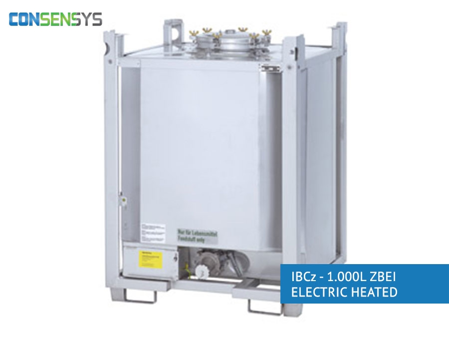 Consensys IBCz 1000 liter ZBEI electric heated container